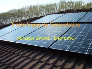 Il mio Impianto Fotovoltaico
