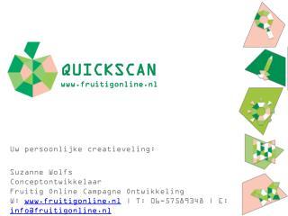 QUICKSCAN fruitigonline.nl