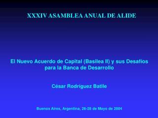 XXXIV ASAMBLEA ANUAL DE ALIDE
