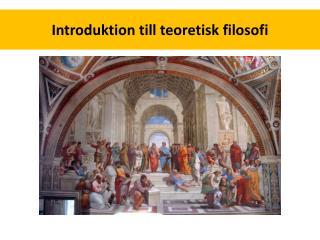 Introduktion till teoretisk filosofi