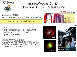 miniTAO/MAX38 による η Carinae の 30 ミクロン帯撮像観測