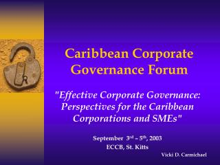 Caribbean Corporate Governance Forum