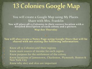 13  Colonies Google Map