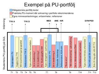 Exempel på PU-portfölj