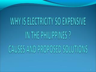 PHILIPPINE POWER RATES: ASIA'S HIGHEST