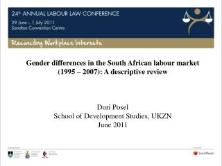 Gender differences in the South African labour market (1995 – 2007): A descriptive review