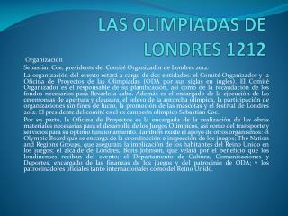 LAS OLIMPIADAS DE LONDRES 1212