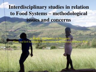 Interdisciplinary studies in relation to Food Systems – methodological issues and concerns