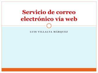 Servicio de correo electrónico vía  web