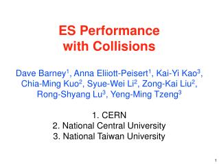 ES Performance  with Collisions