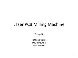 Laser PCB Milling Machine