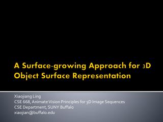 A Surface-growing Approach for 3D Object Surface Representation