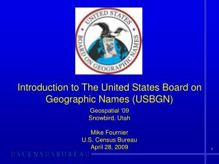 Introduction to The United States Board on Geographic Names USBGN