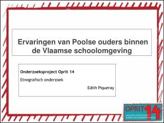 Ervaringen van Poolse ouders binnen de Vlaamse schoolomgeving