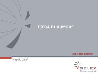CIFRA DI RUMORE