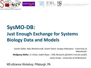 SysMO-DB:  Just Enough Exchange for Systems Biology Data and Models