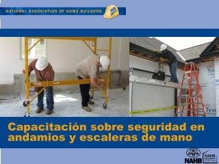 Capacitaci n sobre seguridad en andamios y escaleras de mano