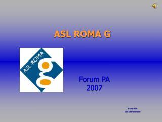 ASL ROMA G