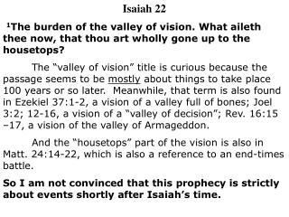 Isaiah 22