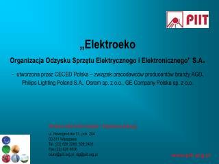 ul. Nowogrodzka 31, pok. 204 00-511 Warszawa Tel. (22) 628 2260, 628 2406 Fax (22) 628 5536