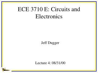 ECE 3710 E: Circuits and Electronics