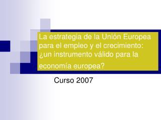 Curso 2007