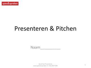 Presenteren &  Pitchen