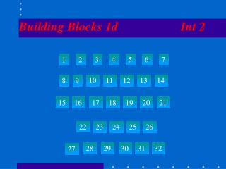 Building Blocks 1d                    Int 2