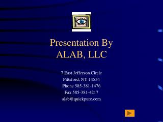 Presentation By ALAB, LLC