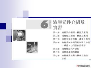 第一節 液壓泵的種類、構造及應用