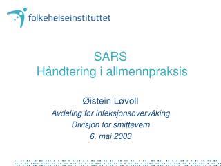 SARS   Håndtering i allmennpraksis