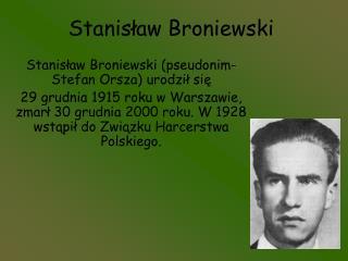 Stanisław Broniewski