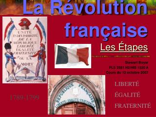 La R volution fran aise Les  tapes
