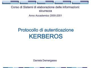 Protocollo di autenticazione  KERBEROS