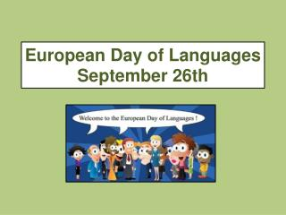 European Day of Languages September 26th