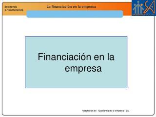 Financiaci�n en la empresa