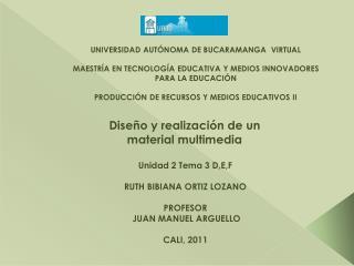 Diseño y realización de un material multimedia