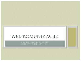 Web komunikacije