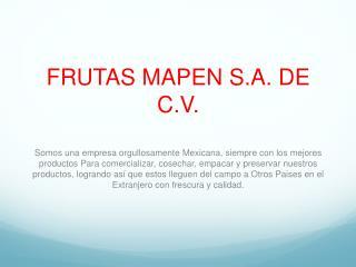 FRUTAS MAPEN  S.A . DE  C.V .