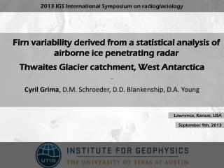 Firn  variability derived from  a  statistical analysis  of  airborne ice penetrating  radar