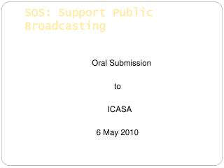 SOS: Support Public Broadcasting