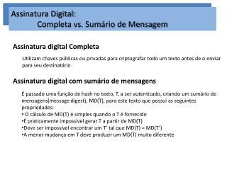 Assinatura digital Completa