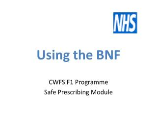 Using the BNF