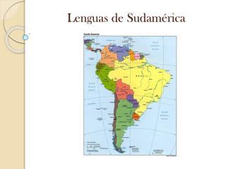 Lenguas de Sudamérica