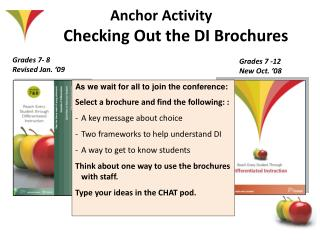 Anchor Activity  Checking Out the DI Brochures