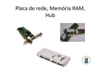 Placa de rede, Mem�ria RAM, Hub