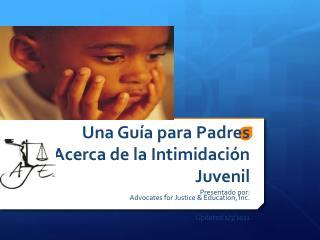 Una Guía para Padres Acerca de la Intimidación Juvenil