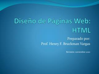 Diseño de Páginas Web: HTML