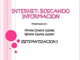INTERNET, BUSCANDO INFORMACION
