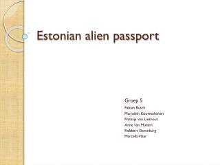Estonian alien passport